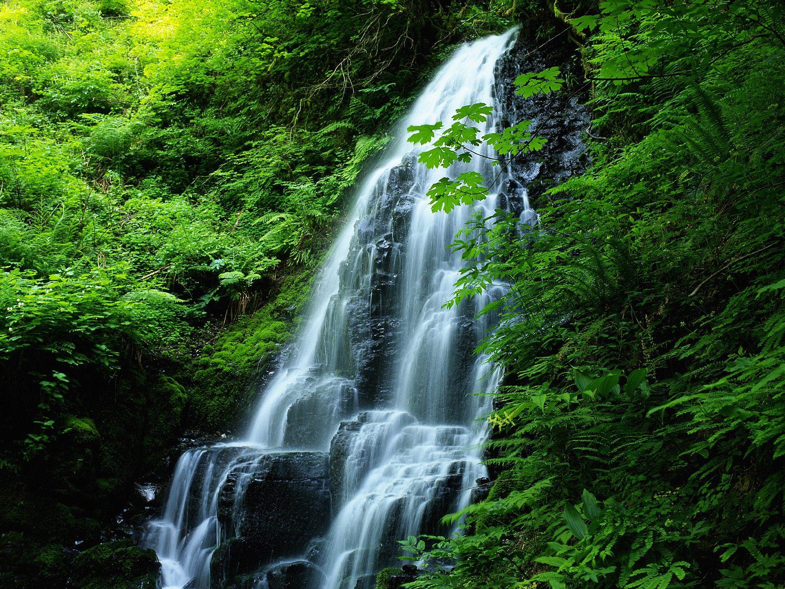 瀑布溪流唯美自然风光高清壁纸 第二辑